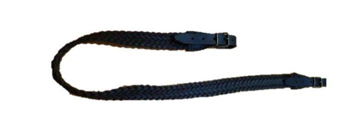 Porta escopeta cuero trenzado negro
